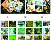 Lomography - Lomo Stickers - I love GREEN - 6 sheets
