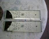 Circa 1930s Finger Door Plates Etched Mirrors