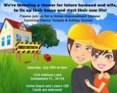 Couples Home Improvement Shower Invitation