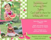 1st / 2nd Birthday Watermelon Invitation