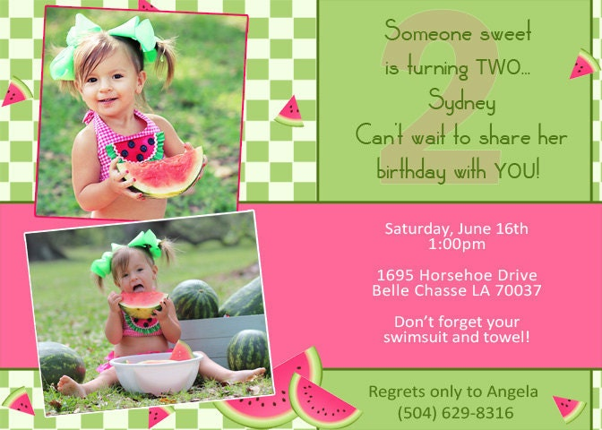 Watermelon Birthday Invitations is the best ideas you have to choose for invitation example