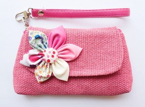 Pink Purse Case For Mobile phone coins SALE Buy 3 Get 1 FREE