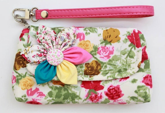 SALE Buy 3 Get 1 FREE-  Wristlet For Cell phone Coins iPhone Blackberry