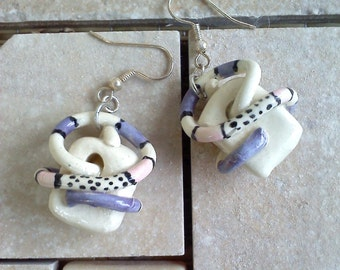 Bright Purple and Pink Earrings