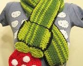 Super Mario Bros Inspired Piranha Plant Scarf (The Original, Featured on Geekologie) crochet