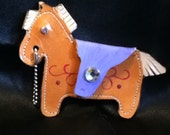Palomino Pony Coin Purse with Lavender Saddle