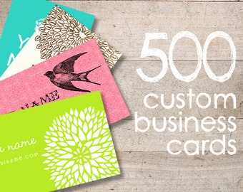 Business Cards - Custom Business Cards - Jewelry Cards - Earring Cards - Display Cards - QTY 500 - YOUR LOGO