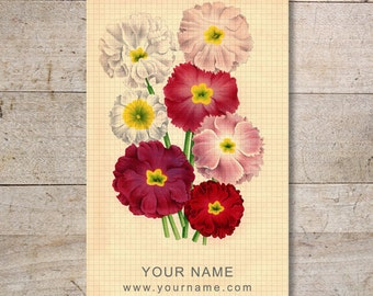 Business Cards - Custom Business Cards - Jewelry Cards - Earring Cards - Display Cards - Vintage Flowers - No. 111