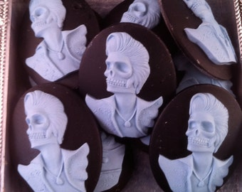 50% off Dead Rocker Cameos 40x30mm, set of 10 IMPERFECTIONS