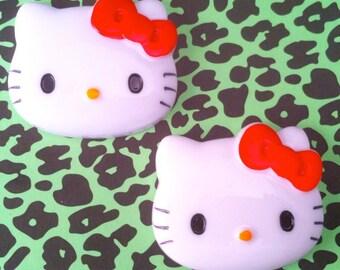 Large Hello Kitty Flatback 45mm, set of 2