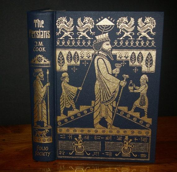 Hollow Book Safe Folio Society Ancient Civilizations Persian Blue 22k gold Premium Binding