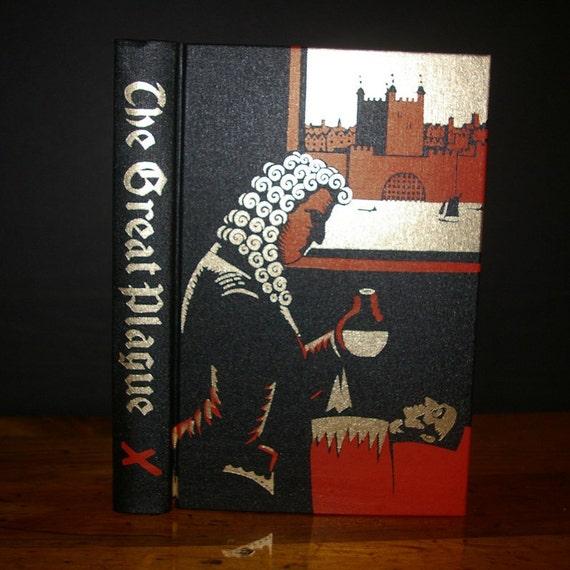 Hollow Book Safe The Great Plague Folio Society 22k Gold Premium Binding