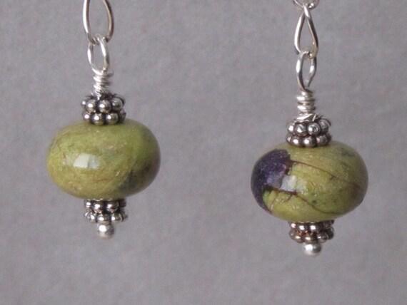 Stichtite/Atelestite earrings
