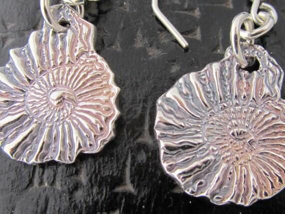 Silver Nautilus Shell Earrings Reserved for Heide Larsson