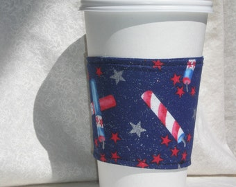 Fireworks Coffee Cozy