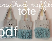 Crushed Ruffle Tote PDF Pattern