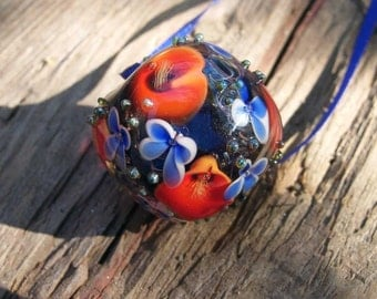 Flowerball Glass Bead