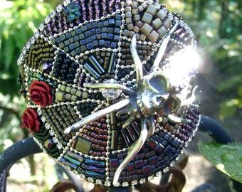 Cobweb of Life - Bead Embroidery Cuff