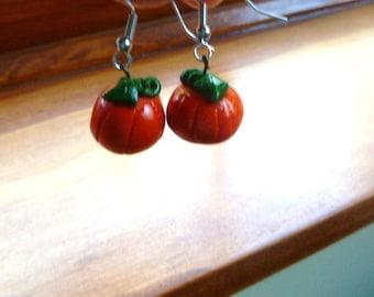 Polymer Pumpkin Earrings