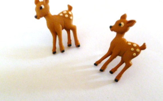 Earrings Mix and Match Collection Matching Set Little Forest Baby Deers