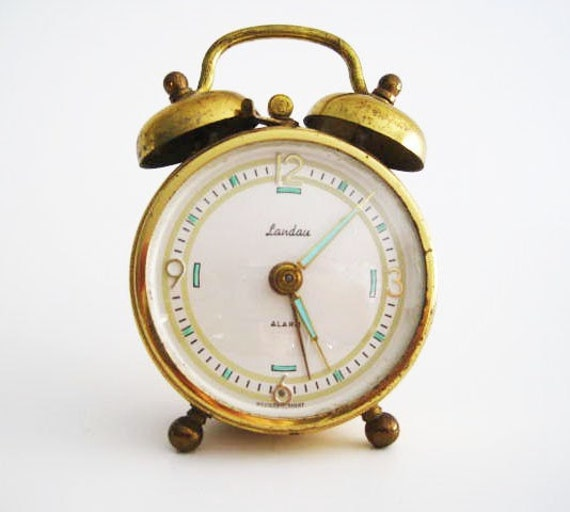Vintage Landau Alarm Clock West Germany