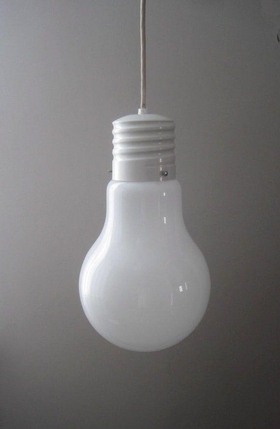Vintage Retro Modern Giant Light Bulb Hanging Lamp