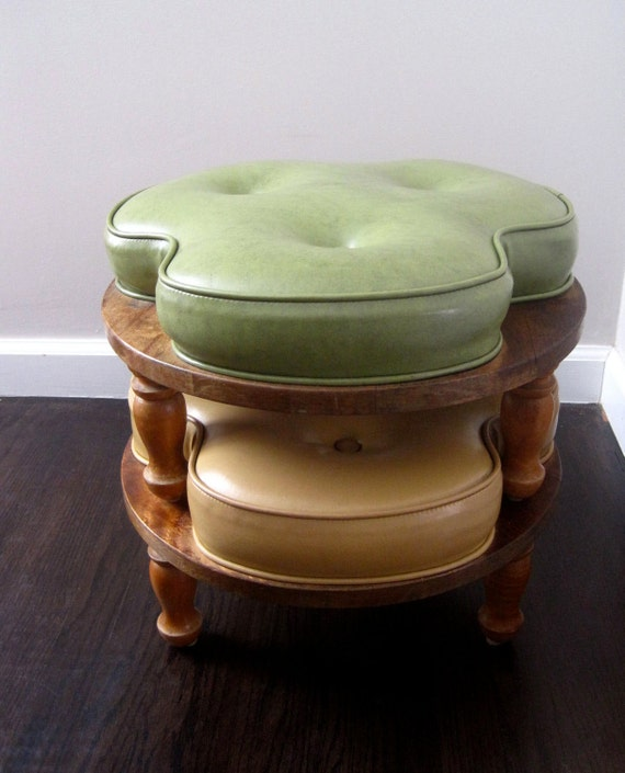 Reserved For Lauren Vintage Retro 60s Mod Stacking Ottoman