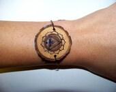 Manipura Chakra Wood Wayfer Bracelet