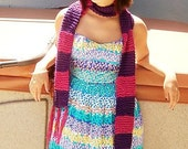 50 Percent off Pink and Purple Striped Scarf