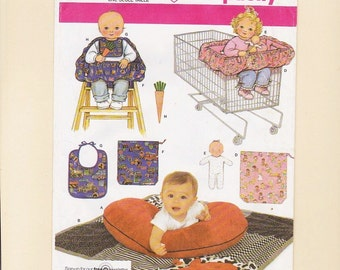 Baby Pattern Accessories Quilt Pillow Cover Seat Bib Dolls Toys Uncut Craft Simplicity 4225