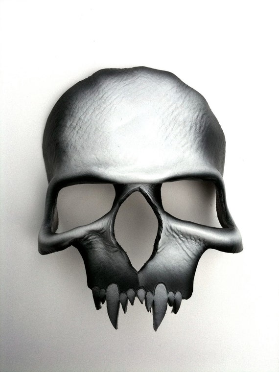 Vampire Skull Leather Mask