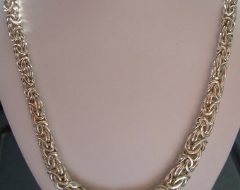 Sterling Silver chunky necklace