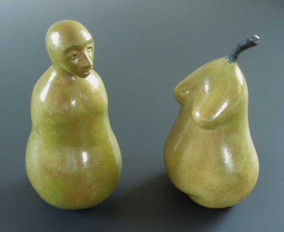 A Couple... of Pears sculpture or wedding cake topper