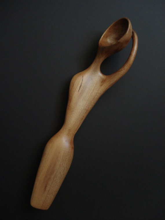 Henry Moore-ish  wood spoon