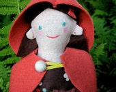 Red Riding Hood Doll - hand sewn one of a kind