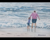 Mommy and the Waves (5 x 7)