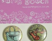 Set of 2 badges - handbag and shoes
