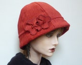 Red Cloche Style Hat