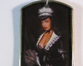 Betty Page French Maid Pendant Necklace