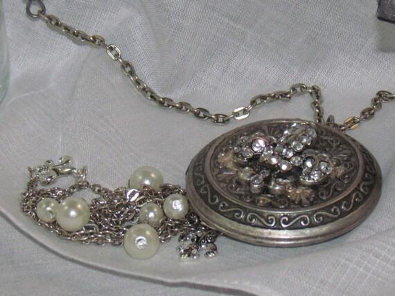 Fleur de Lis Locket Necklace