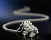 Silver Roller Derby Skate Necklace