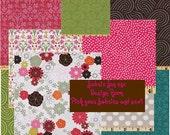 Fall Jewel Tones  Michael Miller Brown, Hot Pink, Pear, Grey, Ocean Sanctuary Coordinating Fabrics