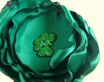 Shamrock Green  Hair Clip or Brooch for Women or Girls St. Patrick's