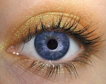 Ambre Mineral Eyeshadow |  Yellow Gold Eye Shadow | Mineral Makeup | Natural Cosmetics | Certified Cruelty Free + Vegan Eye Color