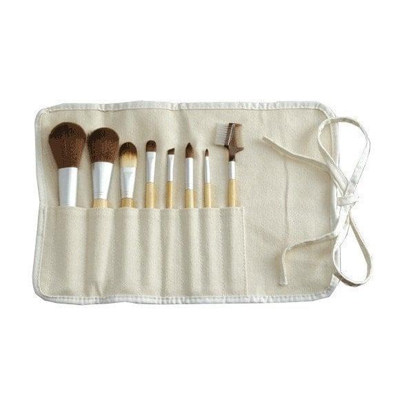 Free Sample - Vegan Bamboo 8 Piece Makeup Brush Set - Eco - Cruelty-Free - Vegan