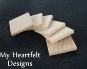 1 inch Wooden Square Tiles (Lot of 30) Unfinished Wood Pieces // DIY Crafting