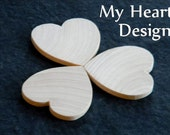 1.5 inch Wooden Heart Cutouts (Lot of 25) Unfinished Wood 1-1/2 inches, Wedding Tags, Party Favors