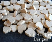 0.5 inch Wooden Heart Cutouts (Lot of 100) Unfinished Wood - 1/2 inch, Wedding DIY Crafts, Craft Pieces