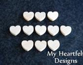 0.5 inch Wooden Heart Cutouts (Lot of 50) Unfinished Wood - 1/2 inch, Wedding DIY Crafts