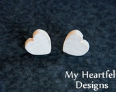 0.5 inch Wooden Heart Cutouts (Lot of 25) Unfinished Wood - 1/2 inch, Wedding DIY Crafts